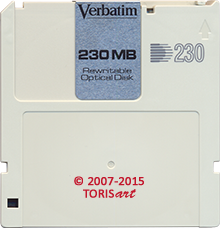 Verbatim Rewritable Optical Disk 230 MB