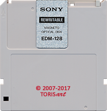 SONY Rewritable Magneto-Optical Disk 128 MB